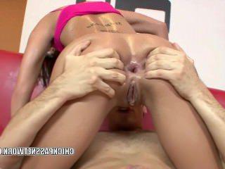 Голые Девки Порно Шанель Белый принимает большой член в ее задницу видео