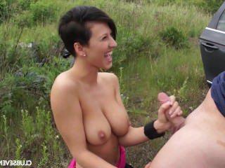 Голые Девки Порно Большой сиськастый девка получает пригвожденный по a жир такси водитель видео
