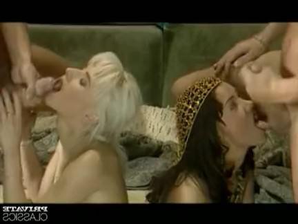 Ретро Порно Анжелика и Сандра, анальная оргия видео